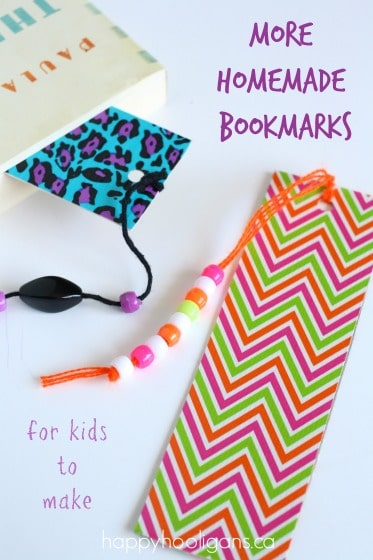 More homemade bookmarks for kids to make happy hooligans How to make a simple bookmark