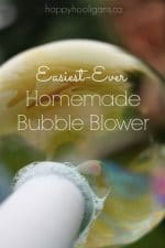 Homemade Bubble Blower