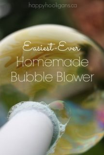 easiest-ever homemade bubble blower