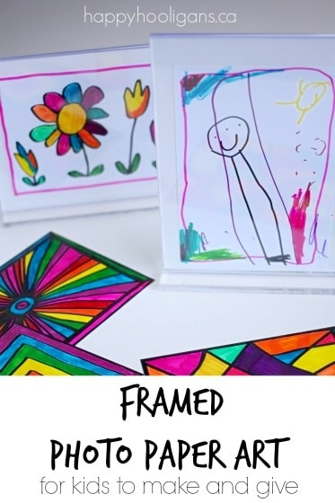 Framed photo paper art with Sharpies - Happy Hooligans