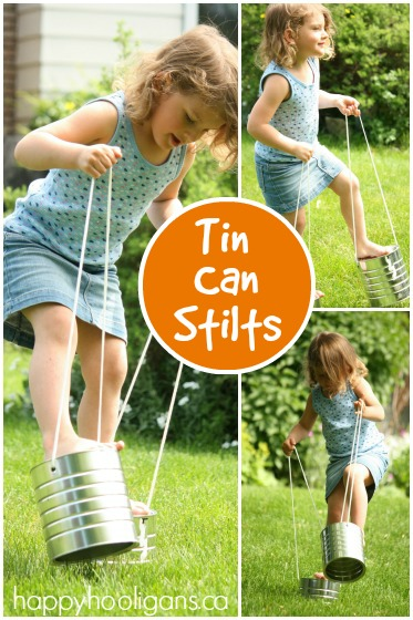 Tin Can Stilts – Classic Childhood Activity