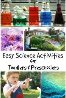 15+ Easy Science Activities for toddlers and preschoolers