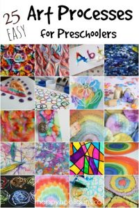 25 easy art processes for kids
