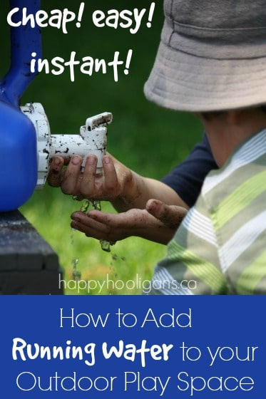 How to add water to an outdoor play space