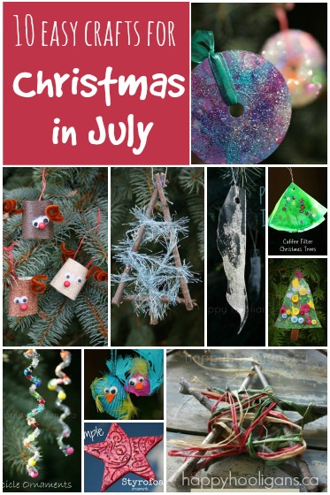 10 simple Christmas in July Crafts