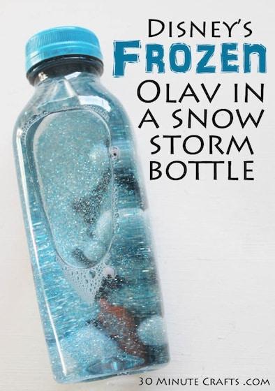 Disneys-Frozen-Olav-in-a-snow-storm-bottle