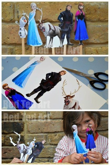 Frozen-Crafts-Puppet-Printable