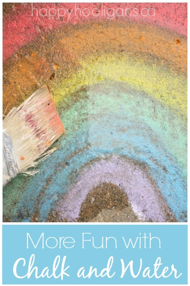 Sidewalk Chalk and Water Painting Activity