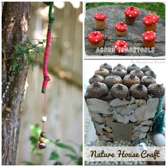 Fairy Bells, Acorn Toadstools, Nature Fairy House