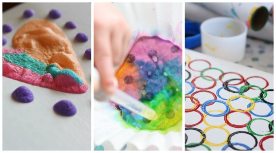 3 simple paint processes for kids