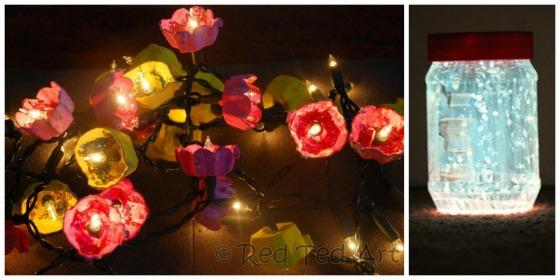 fairy lights and fairy jar