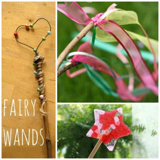 3 fairy wands for kids to make