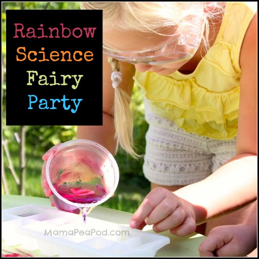 rainbow science fairy party cover