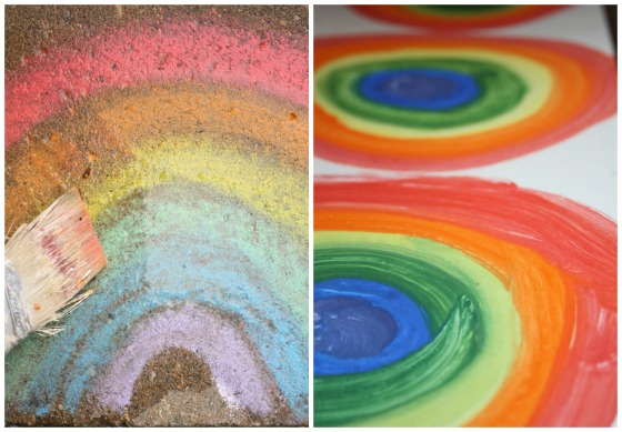 techniques for painting rainbows