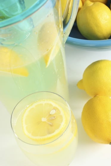 jug of fresh squeezed lemonade