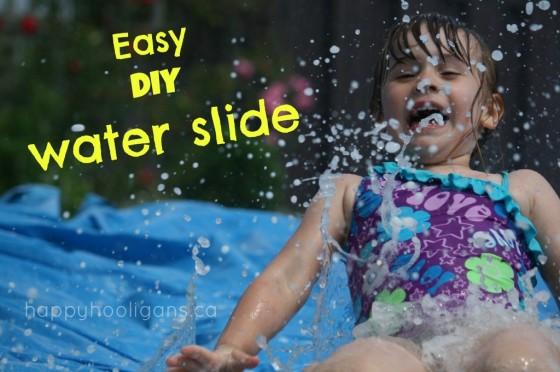 homemade water slide for kids