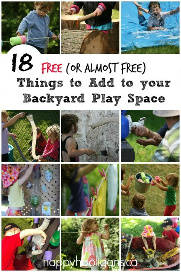 18 Free {or almost free} Cool Features to Add to Your Backyard Playground