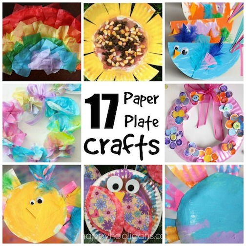 17 easy paper plate crafts for kids happy hooligans for Arts and crafts to make at home