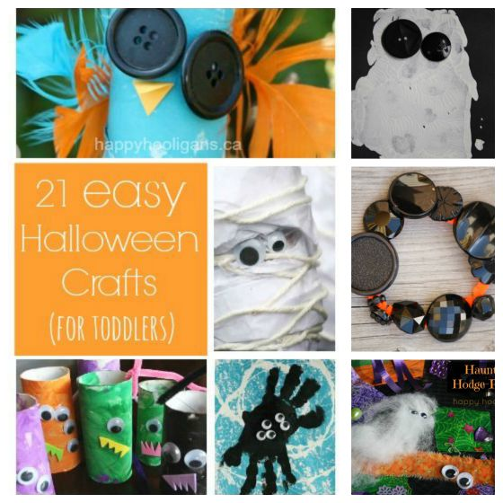 21 Easy Halloween Crafts For Preschoolers Happy Hooligans