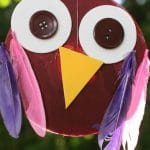 Owl craft made from an old CD