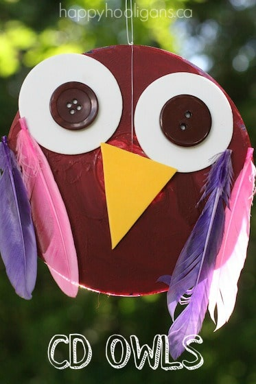 Easy CD owl craft for toddlers