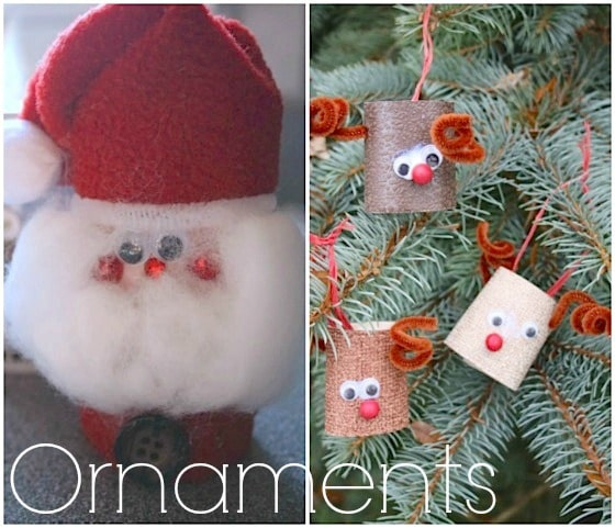 Christmas crafts toilet rolls