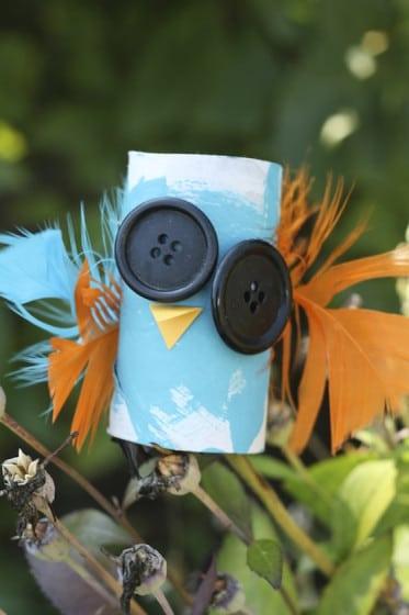 Spooky Toilet Roll Bird