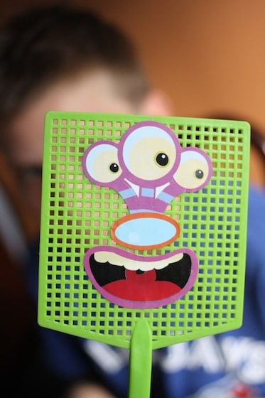 green monster swatter made by child