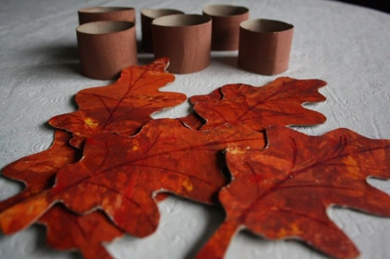 autumn leaf, toilet roll napkin rings