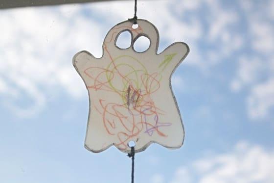Milk jug sun catchers for halloween
