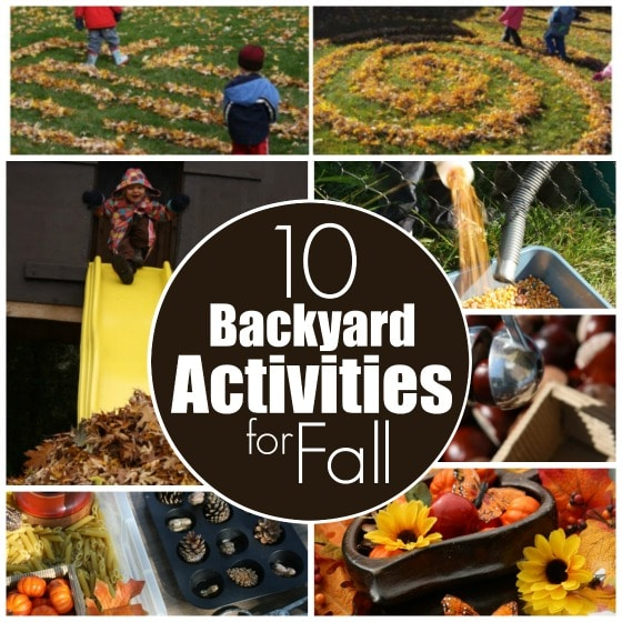 backyard activities for fall for kids