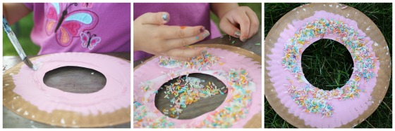 donut paper plate craft & 17 Easy Paper Plate Crafts for Kids - Happy Hooligans