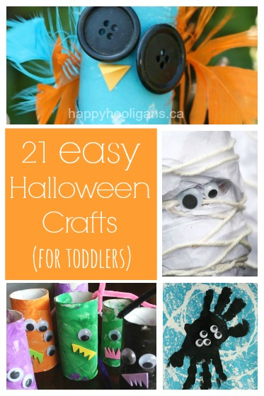 21 easy halloween crafts for kids - Halloween Crafts For Preschoolers Easy