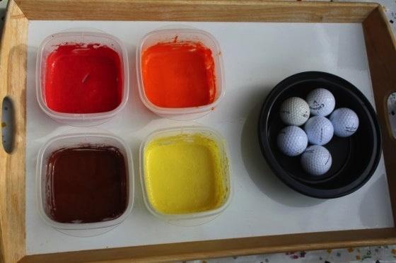 golf ball painting