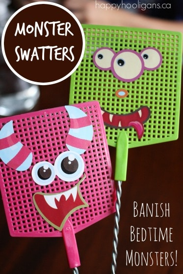 monster swatters to help children who are afraid of monsters at bedtime