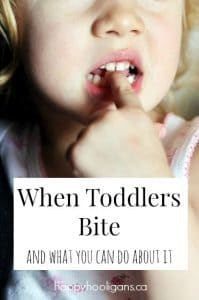 toddler biting finger