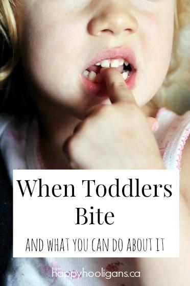 toddler biting finger