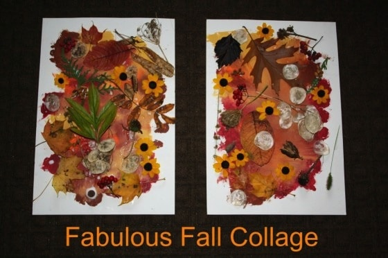 fall collage for preschool