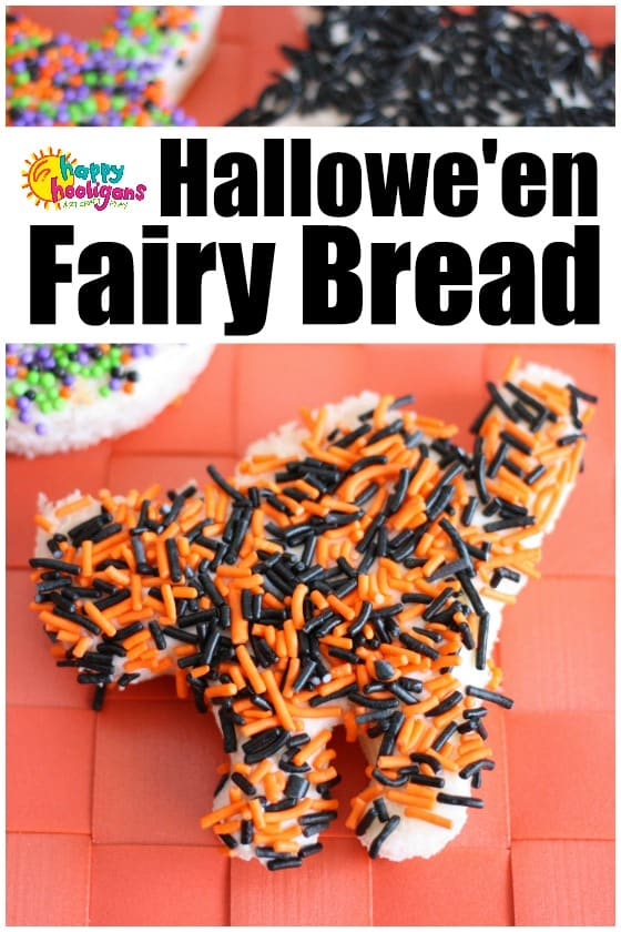 Halloween Fairy Bread - Happy Hooligans