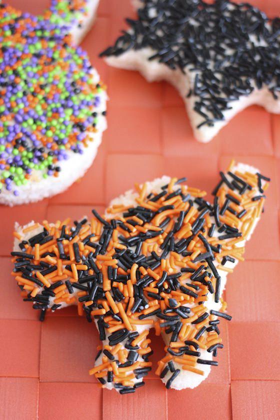 Halloween cat fairy bread