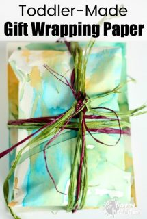 Homemade Gift Wrapping Paper with Coloured Ice Pops