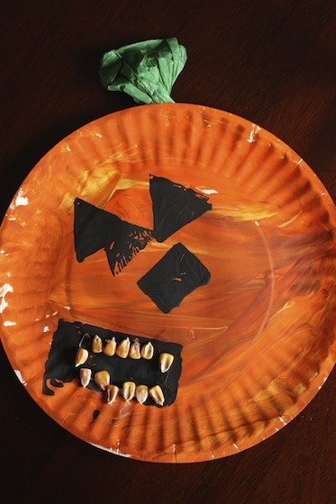 paper plate pumpkin & 3 Easy Paper Plate Crafts for Halloween - Happy Hooligans