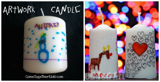 candles kids can decorate and give