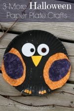 {3 More} Easy Paper Plate Crafts for Halloween