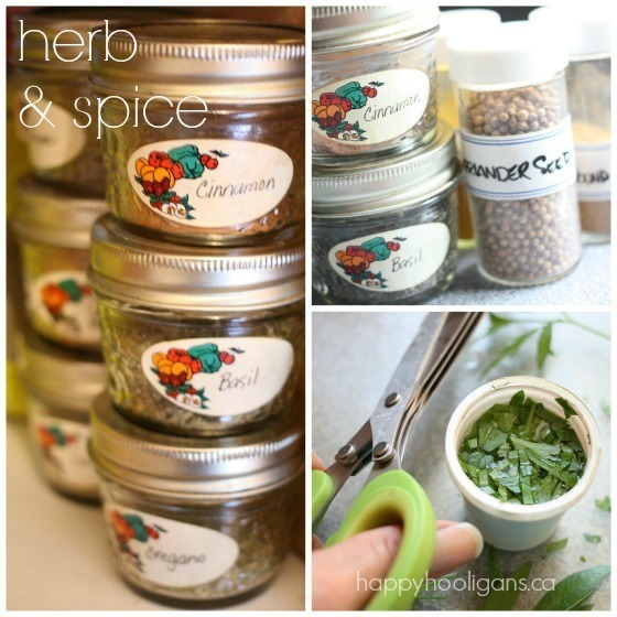 herb and spice storage hacks