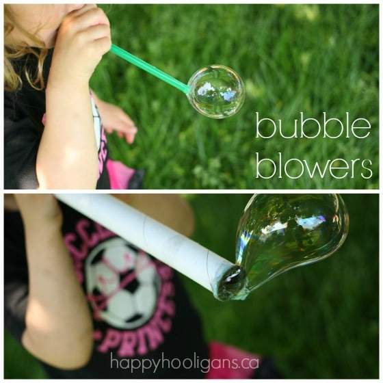 homemade bubble blowersCollage
