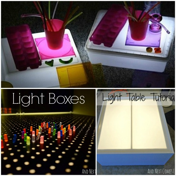 homemade light tables to make for kids