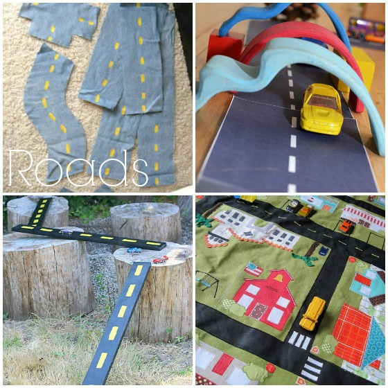 homemade roadway toys to make for kids