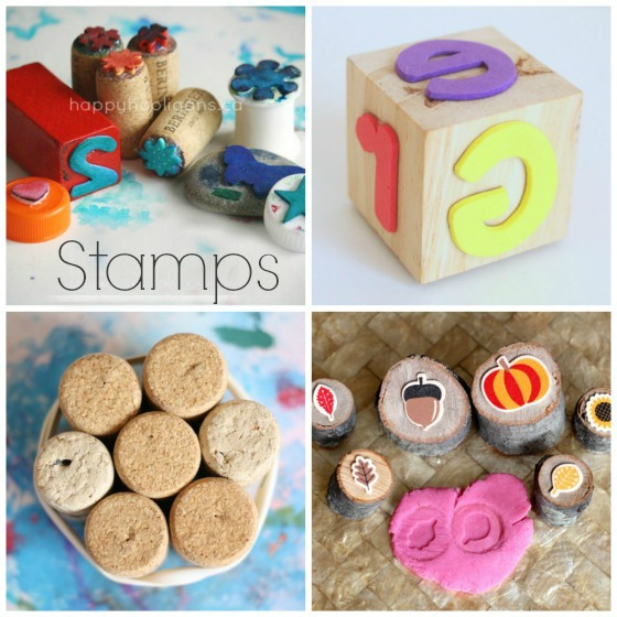 homemade stamps for kids