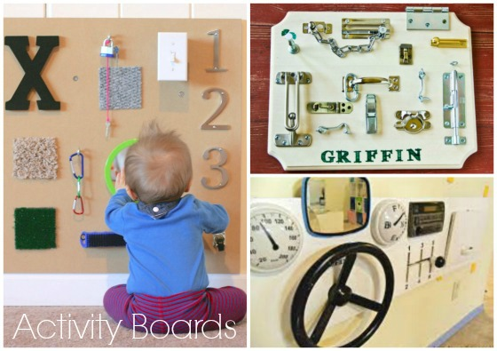 Sensory boards to make for the toddlers